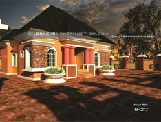 3 Bedroom Bungalow House Plan in Nigeria (Portharcourt)