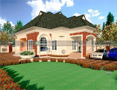 3 Bedroom Bungalow Houseplan in Lagos, Nigeria