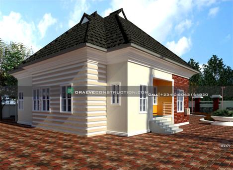 3 bedroom bungalow houseplan in ibadan, nigeria