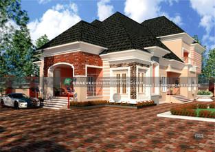 6 Bedroom Penthouse Design in Ogun State   Nigerian Houseplan Designs