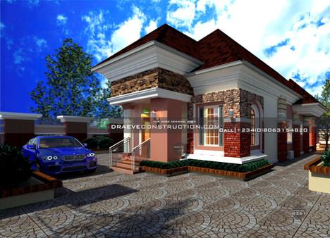 4 Bedroom Bungalow houseplan in Ibadan, nigeria