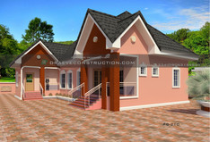 3 Bedroom Houseplan in Nigeria, with Selfcontain