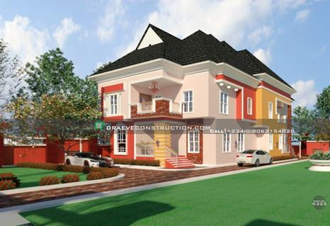 Luxury 7 Bedroom Penthouse in Delta State | Nigerian Houseplan Designs
