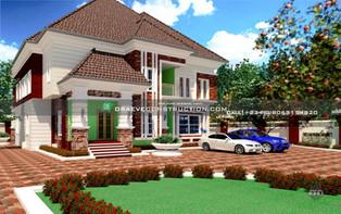 6 Bedroom Duplex in Owerri   Nigerian Houseplan Designs