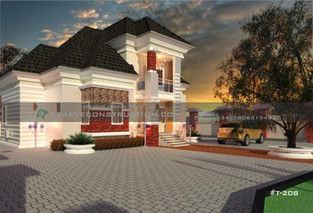 5 Bedroom Bungalow with Penthouse in Enugu   Nigerian Houseplan Designs