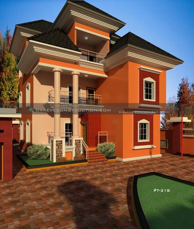 5 bedroom penthouse Nigerian Houseplan design