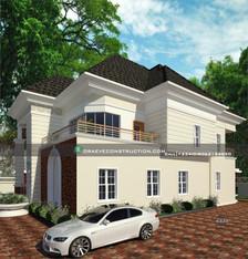 5 Bedroom Duplex Nigerian houseplan design