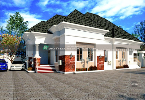 3 Bedroom Bungalow with Children's Parlour House Design in PortHarcourt, Nigeria