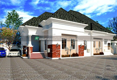 3 Bedroom Bungalow with Children's Parlour House Design in PortHarcourt | Nigerian Houseplan Designs