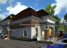 4 bedroom bungalow design in oyo nigeria | Nigerian Houseplan Designs