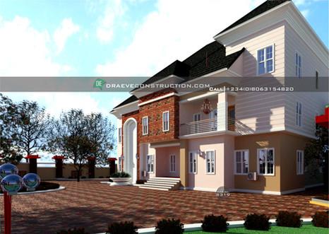 5 bedroom duplex design | Nigerian Houseplan Designs
