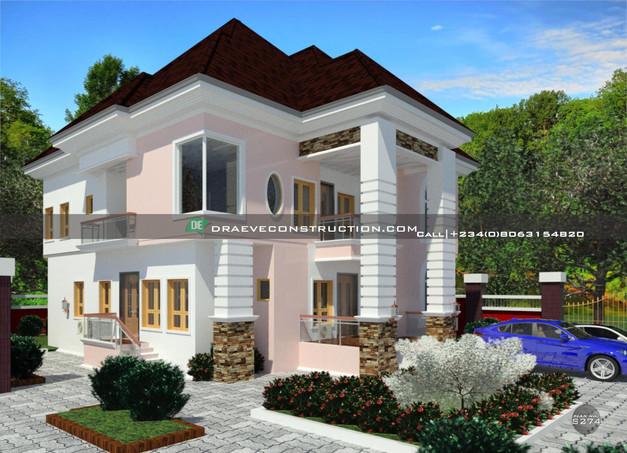 3 bedroom duplex with 1 bedroom flat in Warri, Nigeria