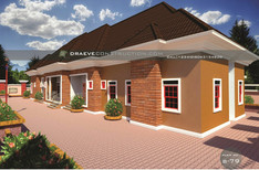 1,2 &3 Bedroom Bungalow House plan in Nigeria (Delta State)