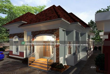 3 Bedroom Bungalow House design in Ibadan, Nigerian houseplan B2