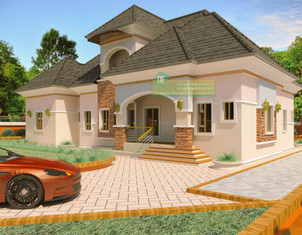 5 bedroom Bungalow with Penthouse, Nigerian houseplan design