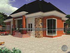 4 Bedroom Bungalow House Plan in Nigeria (Owerri)