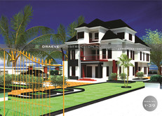 6 Bedroom Duplex House Plan with Penthouse design in Nigeria (portharcourt)