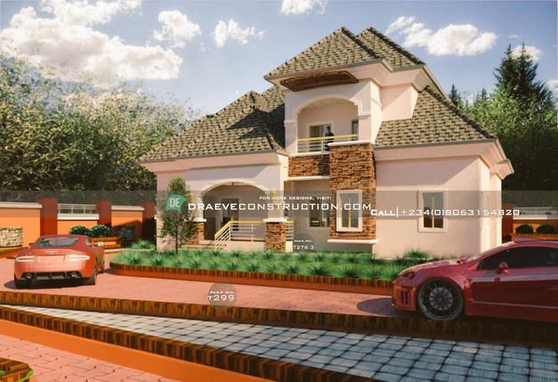 4 bedroom penthouse plan in Nigeria