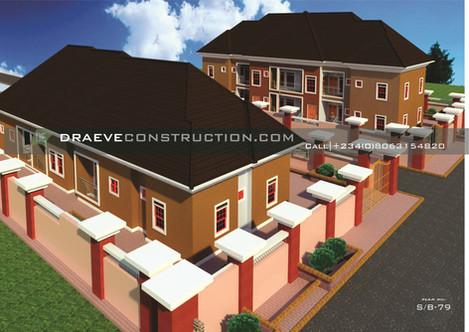 1,2 & 3 Bedroom Bungalow House plan in Nigeria (Delta Sate)