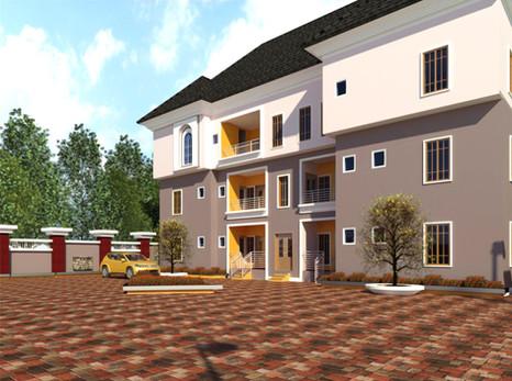 3 beroom and 2 bedroom flats design in portharcourt | Nigerian Houseplan Designs