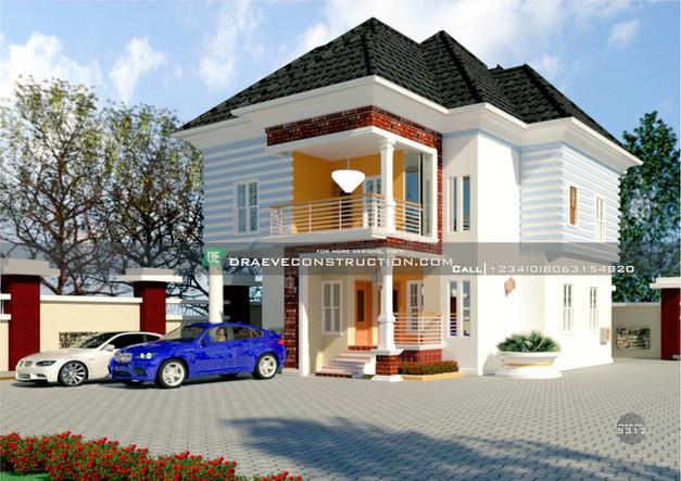 4 Bedroom Duplex Houseplan in PortHarcourt, Nigeria