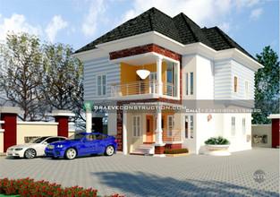 4 Bedroom Duplex Houseplan in PortHarcourt   Nigerian Houseplan Designs