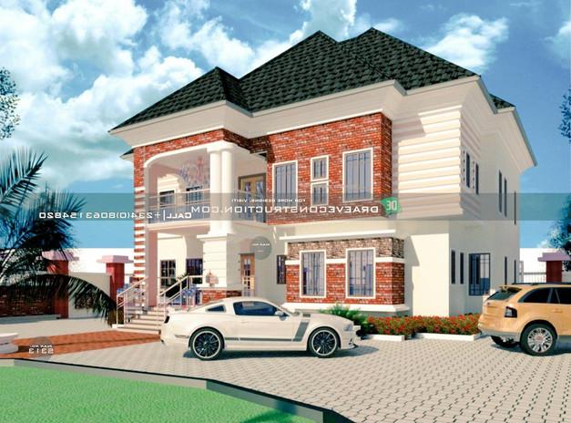2 Units of 3 bedroom Flats Design in Lagos, Nigeria