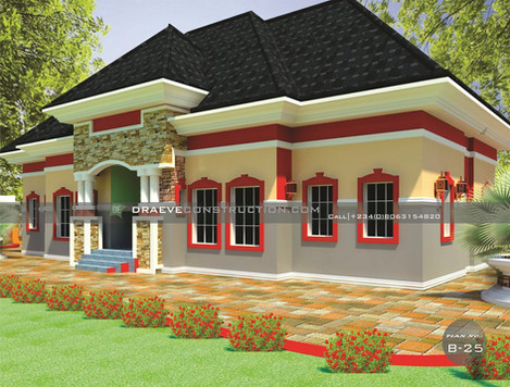2 Bedroom Apartments Building Plan in Nigeria (Portharcourt)