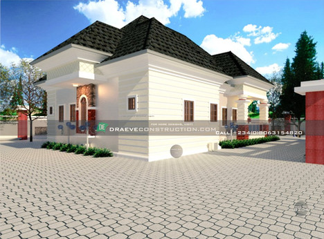 4 Bedroom Bungalow House Design in Edo, Nigeria