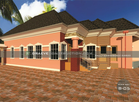 3 Bedroom HousePlan in Nigeria with a Shop for the Wife (Portharcourt)