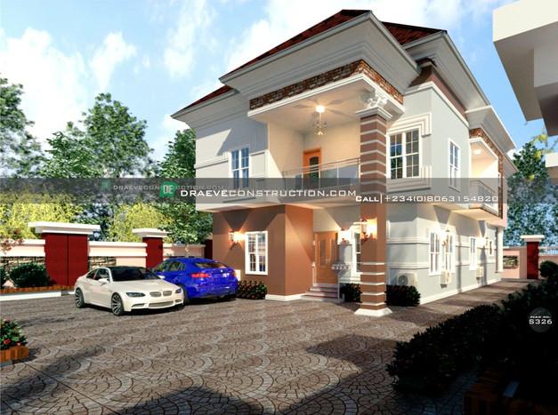 5 bedroom duplex house plan design in ghana