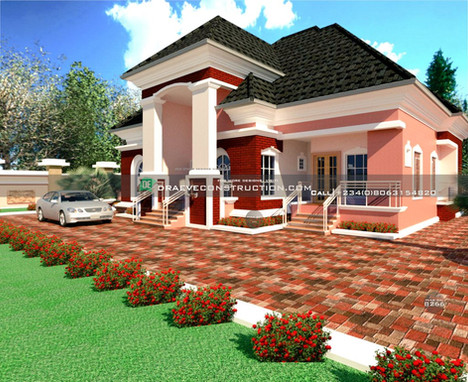 3 and 1 Bedroom Bungalow Design in PortHarcourt, Nigeria