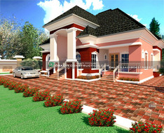 3 and 1 Bedroom Bungalow Design in PortHarcourt | Nigerian Houseplan Designs
