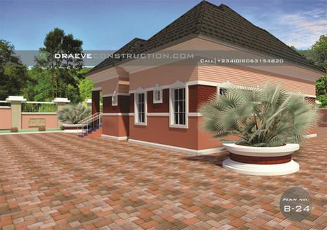 3 Bedroom Flat House plan in Nigeria (Portharcourt)