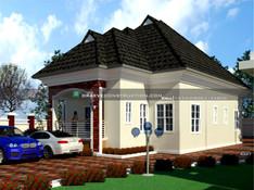 3 bedroom bungalow houseplan in ibadan | Nigerian Houseplan Designs