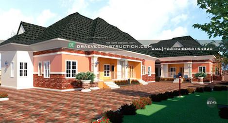 2 & 3 Bedroom Bungalow Houseplan in Lagos, Nig