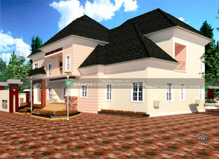 5 Bedroom Penthouse Design in PortHarcourt   Nigerian Houseplan Designs
