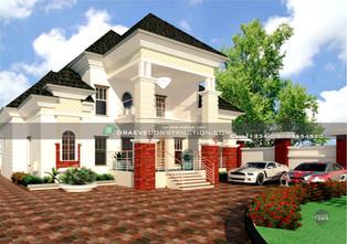 5 Bedroom Penthouse Design in Ota   Nigerian Houseplan Designs