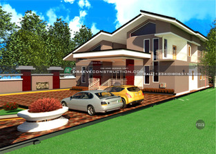 5 bedroom Penthouse Design in Warri   Nigerian Houseplan Designs
