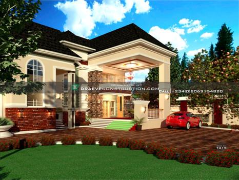 5 bedroom luxury penthouse design in enugu | Nigerian Houseplan Designs