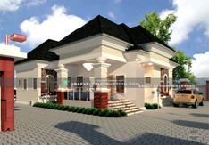 4 Bedroom Bungalow House Design in Edo, Nigeria