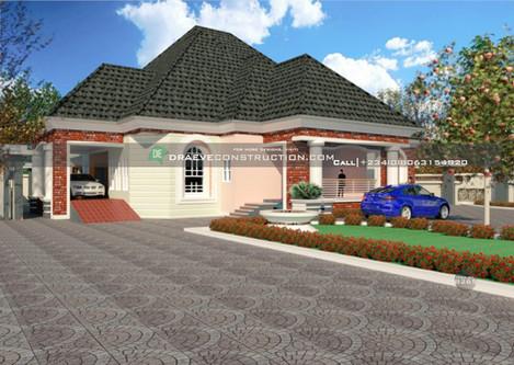 6 Bedroom Bungalow Houseplan in nigeria