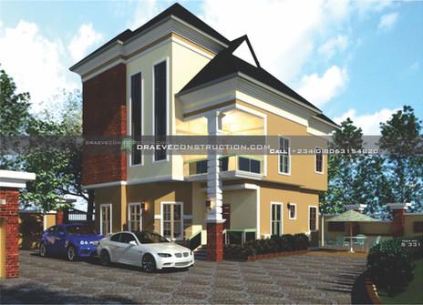 5 bedroom luxury penthouse design in lagos | Nigerian Houseplan Designs