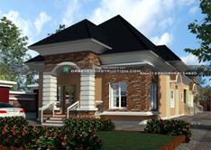 4 Bedroom bungalow with Children's Parlour & 2 Rooms BQ design | Nigerian Houseplan Designs