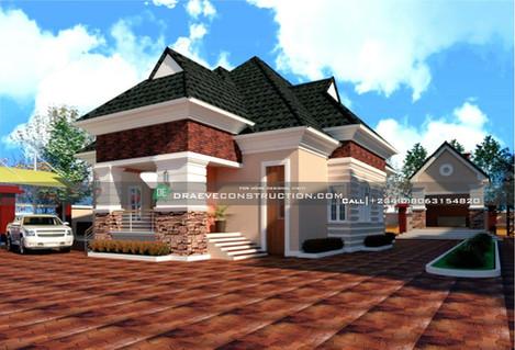 Bungalow Houseplan Design in Nigeria
