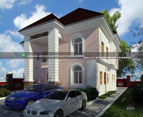 3 bedroom duplex with 1 bedroom flat in Warri   Nigerian Houseplan Designs