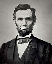 A photo of President Abraham Lincoln