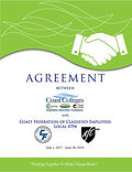 The CFCE contract cover page