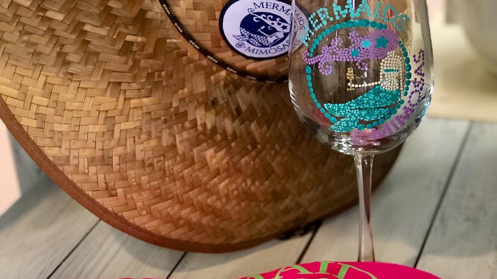 Mermaids & Mimosas Wineglass