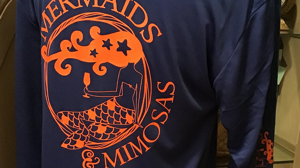 """Gators"" Crew Neck Royal Blue w/Orange Sun Shirt - Pre-Orders"